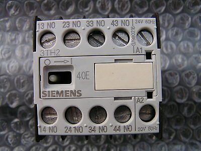 Siemens 3TH2040-0AC1 Control Relay 10A 4 N.O. 24V Coil NEW!! Free Shipping