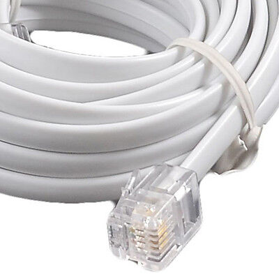 20 M ADSL HIGH SPEED RJ11-RJ11 INTERNET CABLE VDSL FIBRE CabledUP® White