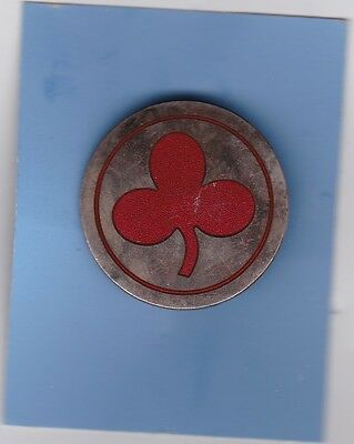 Civil War Hayward  2Nd Corp Badge Silver Plate Red Enamel (1St Division)