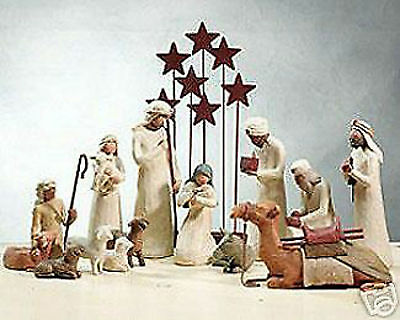 Demdaco Willow Tree Nativity 14 Piece Set