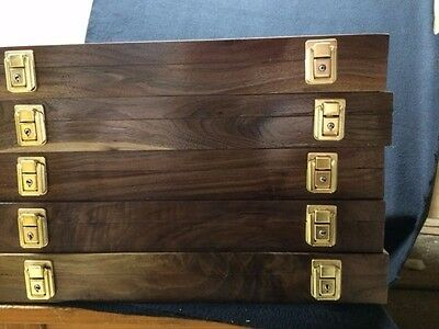 Wood Display Cases Mineral Stain Poplar W/ Key Lock From Hatchett Creek Cases 1