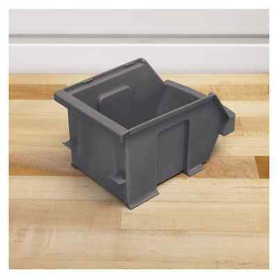 Gladiator 6Pc Small Items Compact Storage Bins – Grey , Can Hang and be Stack