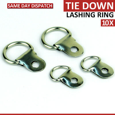 10 pcs Medium Tie Down Lashing D-Ring Strap Hanger Zinc Plated Picture Frame