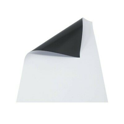 2x Magnetic Sheets A3 x 0.8 mm PVC White | Sheet Magnet Whiteboard Office Poster