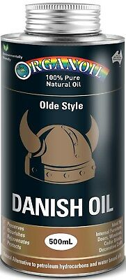 Organoil Olde Style Danish Oil Clear 500ml Internal Timber Oil 100% Natural