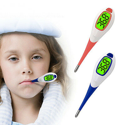 Baby Adult Fever Alert Function Digital Body Soft Head Oral Alar Thermometer New