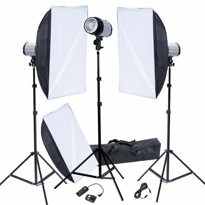 Photo Studio Lighting Kit Strobe Flash Light Softbox Reflector Trigger Receiver