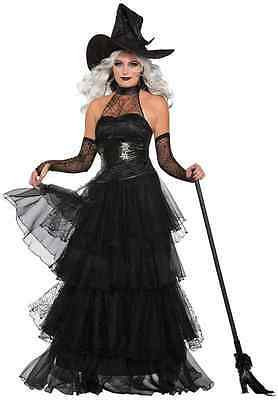 d31ab0f6c Ember Witch Black Wicked Evil Sorceress Fancy Dress Up Halloween Adult  Costume