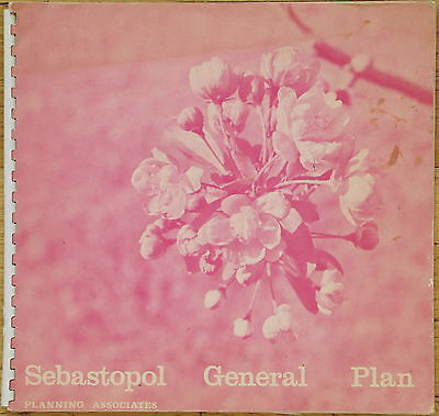 Sebastopol (California) General Plan + Large Fold-Out Color Map-1969
