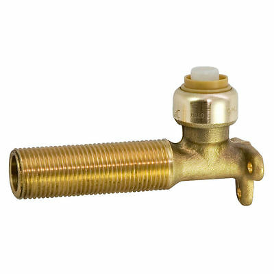"Sharkbite BRASS LUG ELBOW 16mm x 1/2"" Male 75mm Secures PEX Pipe To Wall 90deg"