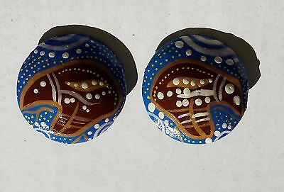 Echidna Clip On Earrings Hand Painted by Nganuwaay Koolyn