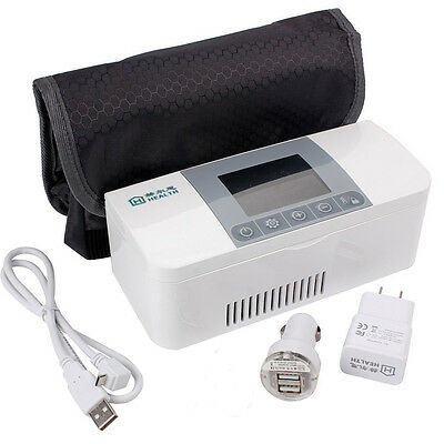 Mini Portable Insulin Cooler Refrigerated Box Home Care Medical Equipment