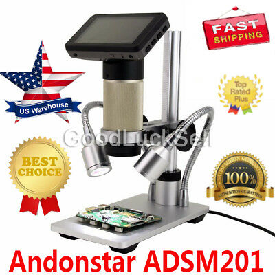 New! Andonstar ADSM201 HDMI microscope digital microscope for PCB repair tool US