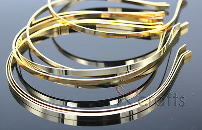 5MM DIY Gold Color Metal Hairband,Women/Baby DIY Hair headband Accessories