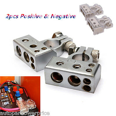 2PCS Positive & Negative Car Battery Clamp Terminal Insulation Cover Connector