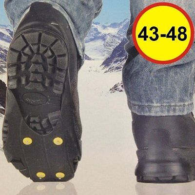 2 Pairs Snow Ice Grips Cleats Treads For Shoes Ice Traction Slip-on  UK 8-13