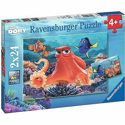 RAVENSBURGER 9103 – Finding Dory Puzzle – Immer schwimmen, 2x24 Teile