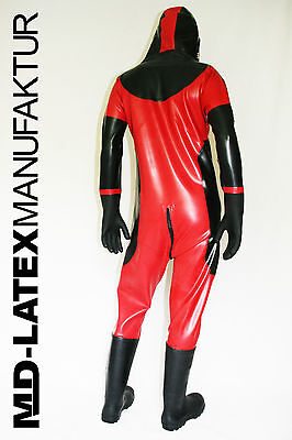 "MD-Latex - ""Classic"" 0,9mm Latexanzug Latex Rubber Latexoverall Ganzanzug"