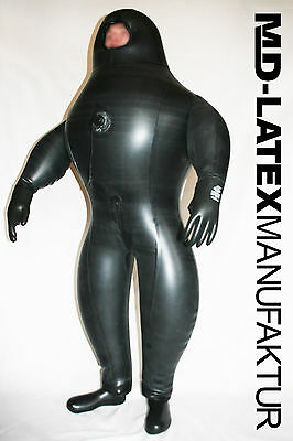 "MD-LATEX ""Black Cyborg II"" 1,5mm aufblasbar NEU Heavy Rubber  Latexanzug Latex"