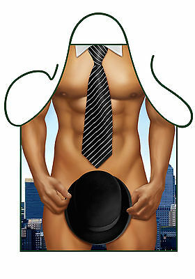 Men's Sexy Fun Novelty Apron,sexy City Business Man, Top Hat And Tails,bbq Apron