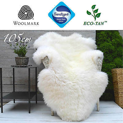 6New Ultra-Fleece Sheepskin Rug Premium Grade SINGLE 105cm+ ECO-TAN SANITIZED