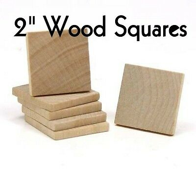 """SQUARE ~ 2"""" ~ Wood Cutout Craft Shape ~ Unfinished { Lot of 25 } ~ by PLD"""