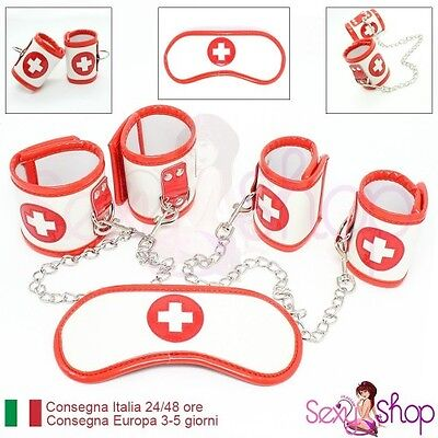 Set bondage kit 3 pz infermiera crocerossina Dottoressa sexy - BDSM Fetish Nurse