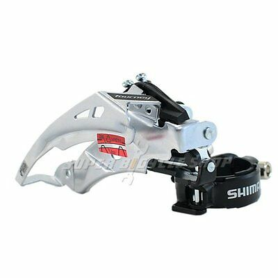 2016 Shimano Tourney FD-TY710-TS6 3X7/8 Speed Top Swing Front Derailleur