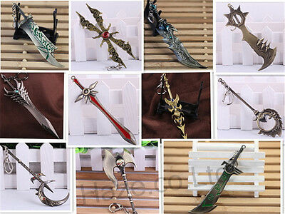 League of legends Espada Armas Cosplay Llavero pendiente de la llave 1pcs
