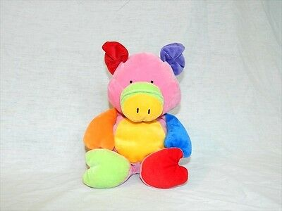 Ty Pluffies Love to baby 2005 Plush Multicolored Pig LITTLE PIGGY Stuffed Lovey