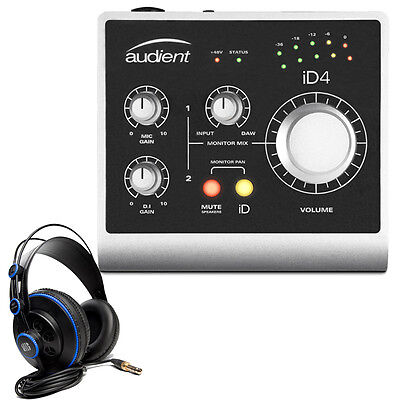 Audient ID4 High Performance USB Audio Interface w/ PreSonus HD7 Headphones