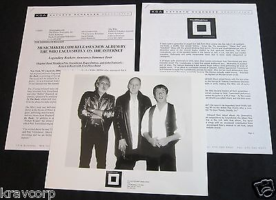 The Who 'The Blues To The Bush' 2000 Press Kit--Photo