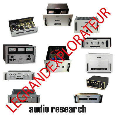 Ultimate Audio Research Operation Repair & Service manual schematics  390 on DVD