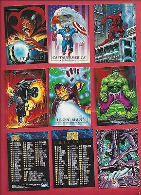 1992 MARVEL MASTERPIECE   Complete Your Set U pick 6 cards NM to Mint
