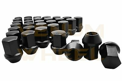 10 Pc Camaro CTS-V Black 14x1.5 OEM Solid Style Lug Nuts 22mm Hex