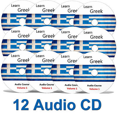 Learn to speak GREEK- Complete Language Training Course on 12 AUDIO CDs
