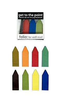 Get to the Point Magnetic Bookmarks Earthtone Color Line Markers (1 Box of 20),