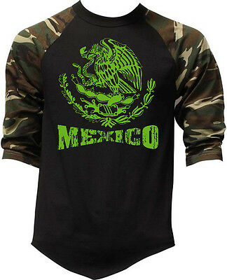 New Men/'s White Mexico Seal Red Black Raglan Hoodie Sweater Mexican Pride Latino