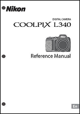 Nikon CoolPix L340 Digital Camera User Guide Instruction  Manual
