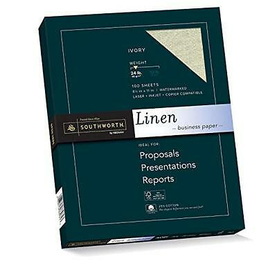 Southworth Linen Business Paper, Ivory, 24 Pounds, 100 Count (P564CK), New, Free