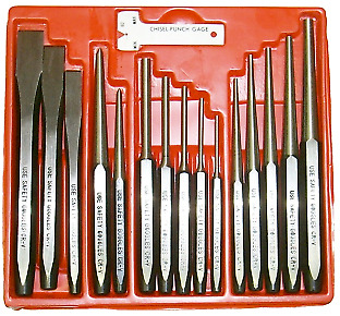 16 Piece Punch & Chisel Set T&E Tools J8416 NEW