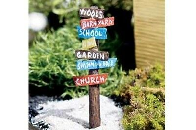 Miniature Dollhouse FAIRY GARDEN - Road Sign - Accessories