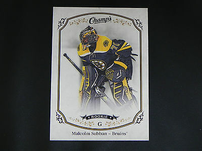 2015-16 Upper Deck UD Champs ROOKIE #256 Malcolm Subban Boston Bruins RC SP