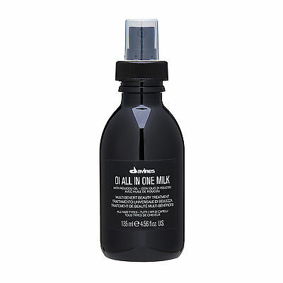 1 PC Davines OI All in One Milk All Hair 135ml Haircare Shine Detangle NEW#19049