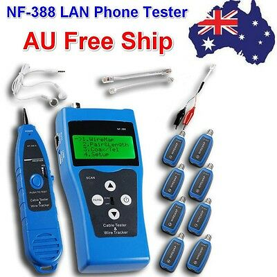 NF-388 Network Ethernet LAN Phone Tester wire Tracker USB coaxial Cable AU Ship