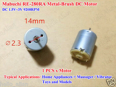 DC 1.5V~3V 9200RPM Mabuchi RE-280RA Metal-Brush DC Motor for Toy Model Massager