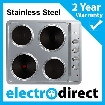 60cm Electric Cooktop Stainless Steel Hob 4 Hotplate Brand New Cook Stove Top