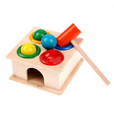 Hammering Game Educational Toy Hammer Early Learning Children Wooden Ball Kids