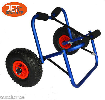 New Color Collapsible Alloy Kayak Trolley Canoe Cart Boat Carrier-JET02005BLU