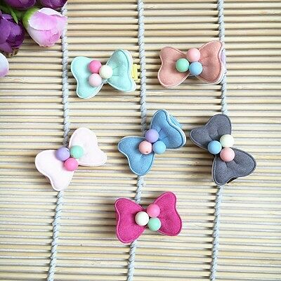 10pcs/lot Dog Hairpin Pet Bow beads Tie Hair Clips Puppy cat Bowknot barrette